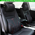For Car STI Leather Neck Super Soft Memory Foam Auto Seat Cover Head Neck Rest Cushion Headrest Supports