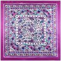 Lenço de seda Lenço Das Mulheres 2016 marca de Luxo Xale Primavera Outono Cachecol Xale Quadrado Cachecol Hijab Flor Impresso Foulard 90*90 cm