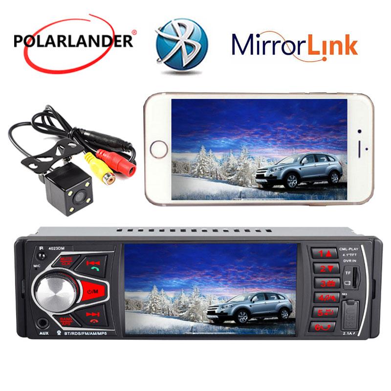 "4.1/"" HD 1DIN Stereo Car Radio MP5 Player Bluetooth FM Radio AUX USB SD TF Camera"