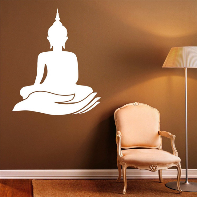 Indian Buddha Wall Decal Yoga Lotus Pose Meditate Art Mural Buddhism