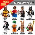 8 Pcs DC Marvel Avengers Super Heroes Batman Deadpool Brinquedos Clássicos Para Crianças Bloco de Harley Quinn