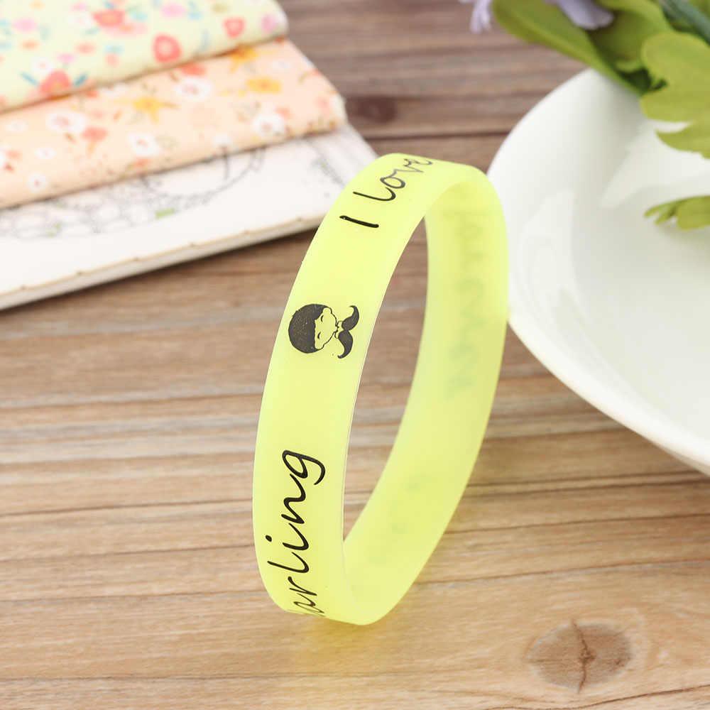 5 цветов светящийся резиновый браслет для мужчин и женщин резиновые блестящие браслеты силиконовые браслеты светится в темноте Новый хороший подарок