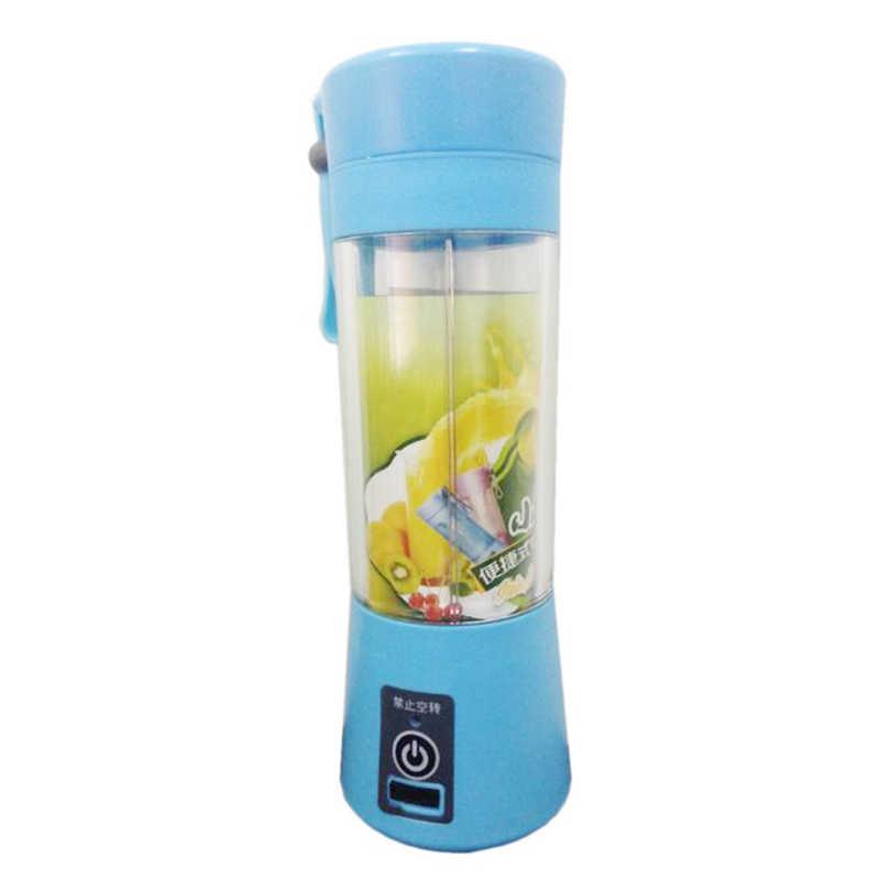 380 ml USB Carregador Portátil Liquidificador Suco de Frutas Misturador Máquina de Mistura Tamanho Pessoal Elétrica Recarregável Misturadores liquidificadores Espremedor
