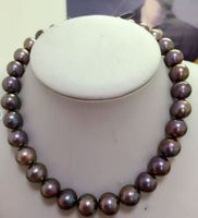 huge 13 15mm AAA Tahitian black red multicolor pearl necklace earring gift 18inch