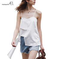 AEL Summer Tops Women Sexy Irregular Shirt Tops Fashion Halter Vest Streetwear Sling Blouse Stylish Design 2019