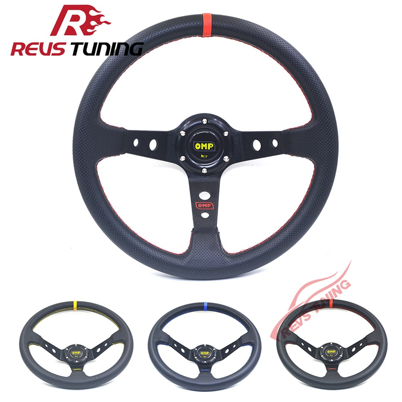 350mm 14inch PVC Car Tuning PVC Racing Sport Rally Race Drifting OMP Steering Wheel
