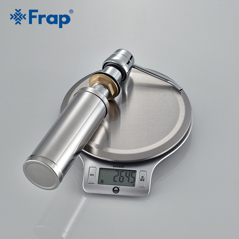 Frap Cheaper Stainless Steel Liquid Soap Dispenser Kitchen Sink Soap Box Chrome Finished detergent dispensers Kitchen accessorie