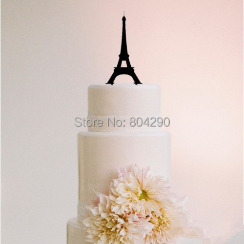 Free Shipping Wedding Party Cake Decoraion Romantic Eiffel Tower