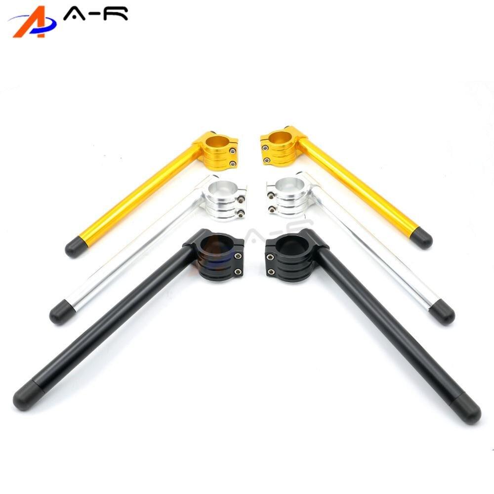 Racing Handlebar Grips Pads Drag Bar 50MM 51MM 52MM 53MM 54MM 55MM Clip On Clipon Fork Handlebars Adjustable Grip 22MM 7/8