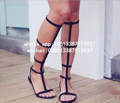 Черные кожаные Бретели для нижнего белья Для женщин в сдержанном стиле Стильные сандалии пикантные oepn ног Пряжка на щиколотке Летние туфли