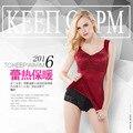 Lady New Lace Strapless Women Winter Warm Vest Female Velvet Upset Corset Chest Beautifying Build Thermal Underwear Coat B-4522