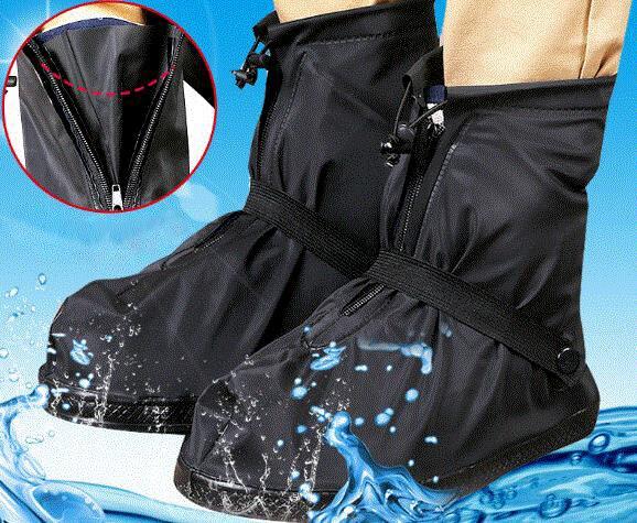 47df23a6bda Mulheres e Homens Reutilizável Sapato Chuva Cobre sapatos Impermeáveis  Galochas Bota Engrenagem Anti-slip QUENTES