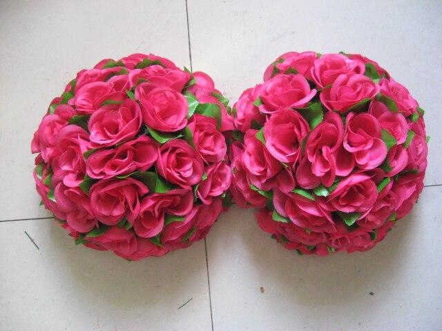 SPR 40 cm centre en plastique de prune avec des feuilles vertes embrassant des décorations de boule pour le mariage