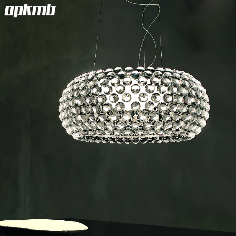 Modern Italian Caboche Pendant Lamp Sweat Crystal Drop Lighting For Dining Room Art Deco Rustic Light