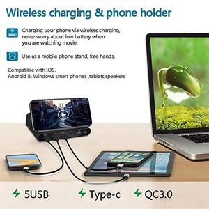 Image 4 - Uniwersalna bezprzewodowa ładowarka Qi 60W dla iphonea Ipad Samsung Tablet z androidem 7 W 1 szybki 3.0 szybki uchwyt do ładowania