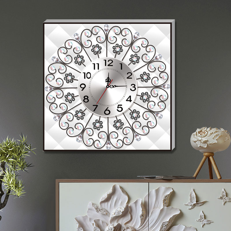 MURAN Diamond Embroidery Wall Clock 5D DIY Diamond Painting Cross Stitch Flower Watch Diamond Mosaic Rhinestones DF 2756 in Diamond Painting Cross Stitch from Home Garden