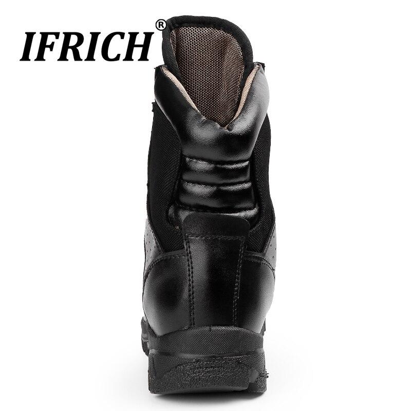 2019 Hot Koop Mannen Werken Laarzen Mannen Lederen Militaire Schoenen In Outdoor Tactische Laarzen Mode Outdoor Mannen Laarzen Big Size 45 46 - 4