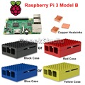 2016 Latest Raspberry Pi 3 Model B with Official ABS Enclosure Cover Case & Copper Heatsinks