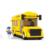 Montado Bloques de Construcción de Mini Figuras de Juguete de Los Niños Educativos juguetes Compatible con juguete Autobús Escolar