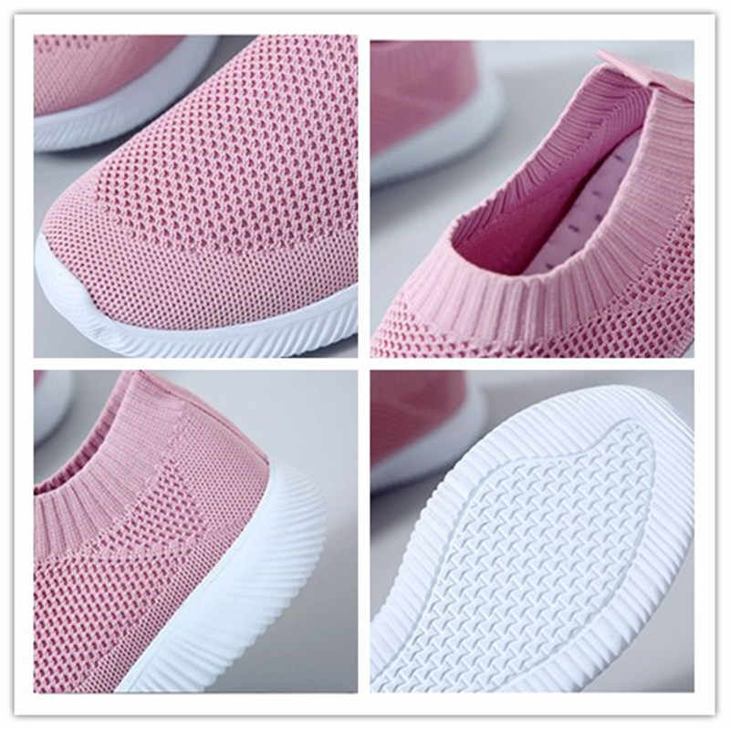 Zapatillas deportivas de mujer Zapatillas de moda blancas cómodas antideslizantes zapatillas de mujer resistentes al desgaste 2019 nuevas zapatillas para correr para mujer