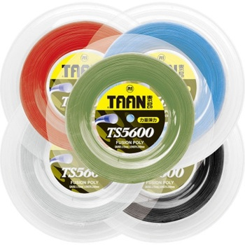 цена на 1 Reel TAAN TS5600Tennis String 1.15mm Round Polyester String Durable Tennis Training String 200m 50-55 Pounds