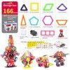 166PCs Magnetic Blocks Model Building Set Creative Construction Assemble Toys For Children DIY Toy Bricks Puzzles