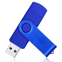 Free shipping USB 2.0 Flash Drive 8gb 16gb 32gb otg Pen drive metal Memory stick 4gb pendrive for Android smartphone