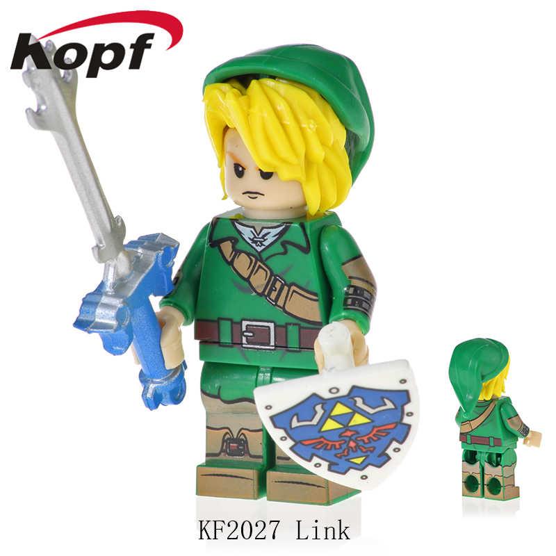 Одиночная продажа кирпичи фигурки легенда о Зельде игра принцесса Zelda Link строительные блоки куклы игрушки для детей подарок KF2027