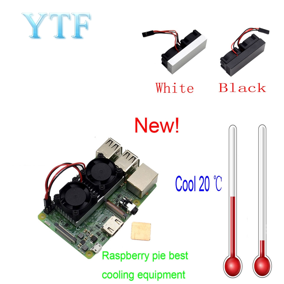 Raspberry Pi Dual Fan Ultimate Heatsink Cooler With Double Cooling Wiring Diagram Fans For 3 2 Model B Nespi Retroflag In Demo Board Accessories From