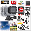 Gitup Git2P WiFi 2K 170 Degree 1080P HD Helmet Waterproof Dash HDMI Action Sports Camera 44Pcs