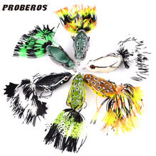 5Pcs Frog Lure 55mm 14g Soft Baits Hollow Rubber Isca Artificial Para Pesca for Snakehead Pike carp fly peche spiner Fishing
