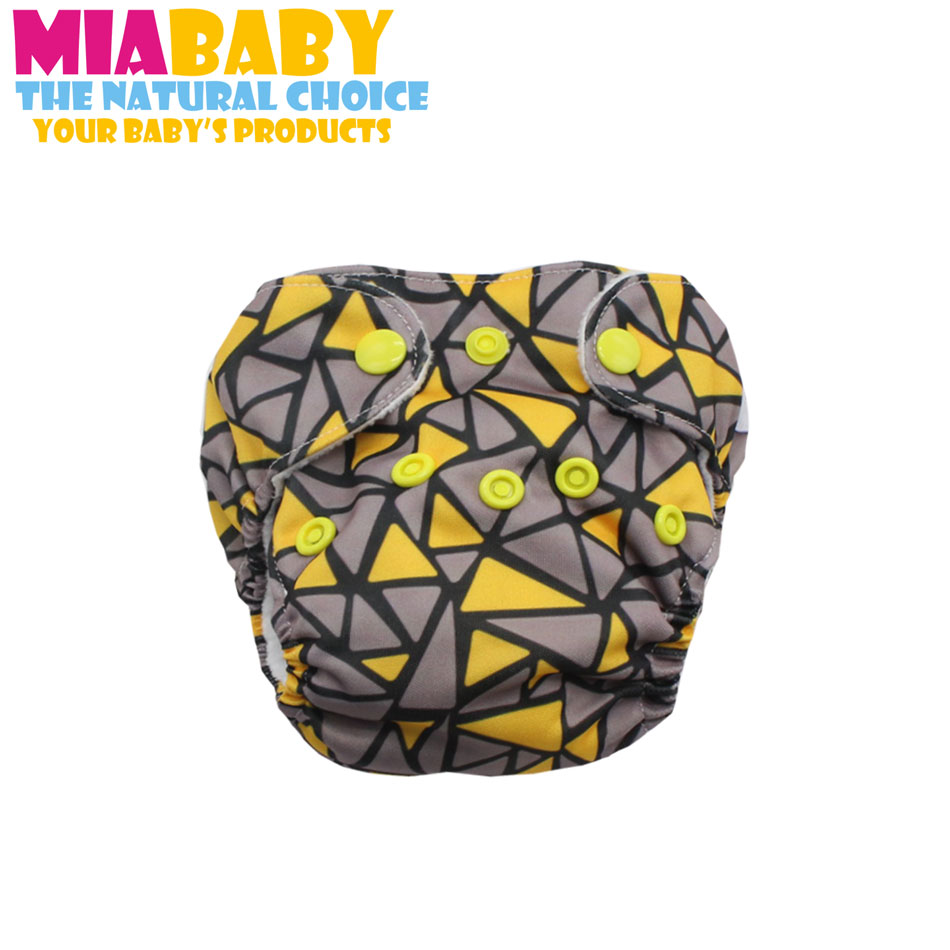 Baby Washable Reusable Real Cloth Newborn AIO Diaper,with Sewn Inside  Insert, Fits 0-3 Months