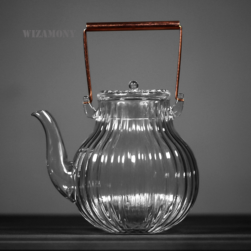 WIZAMONY 600 700ml High Borosilicate Glass Teapot Heat Resistance Teaware suitable for tea brewing Tea Set