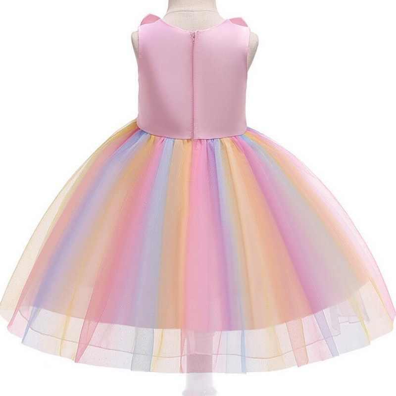 2019 nuevo vestido de disfraz de Animal flor niñas Cosplay conejo tutú Vestidos de tul Halloween niños ropa Vestidos 2-10 años