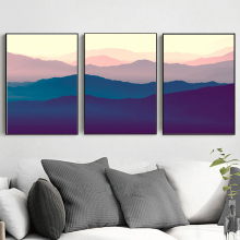 NOOG Poetic Distant Mountain Modern Landscape Canvas Painting Art Print Poster Picture Paintings Wall Decor