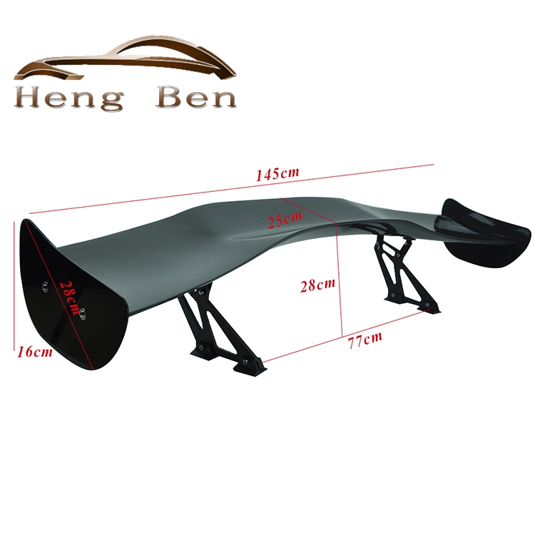 HB Universal 3D II JDM Real Carbon Fiber Racing Rear / Back Trunk Spoilers / Wing