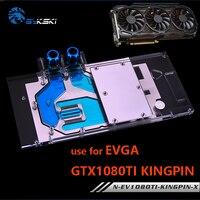 Bykski Volle Abdeckung Grafikkarte Wasser Kühlung Block verwenden für EVGA GTX1080Ti KINGPIN GPU Kühler Kupfer Block mit RGB-in Fluidkühler zum Selbermachen aus Computer und Büro bei