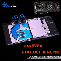 Bykski pełna pokrywa karta graficzna wodny blok chłodzący zastosowanie dla EVGA GTX1080Ti KINGPIN GPU Radiator miedziany blok z RGB w Chłodzenie cieczą DIY od Komputer i biuro na