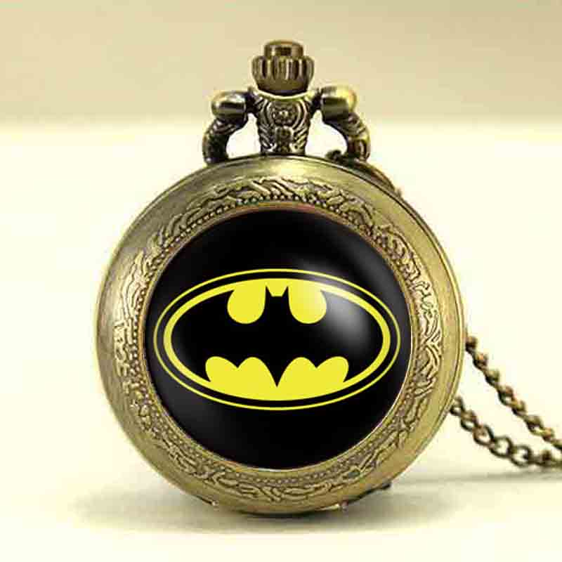 US Movie Batman chain Bronze necklace Women Drama Gotham superhero mens fashion Jewelry charms 12pcs lot