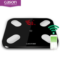 GASON S4 LED Bathroom Digital Body Floor Scale Fat Scalesmart Weighing Support Android4 3 IOS7 0