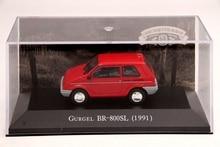 IXO Altaya 1:43 Scale Gurgel BR 800SL 1991 Car Diecast Toys Models Limited Edition Collection Red auto inn ixo 1 43 gurgel carajas corpo de bombeiros diecast model car