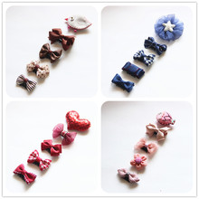 New Design Mini Bow Hairgrips Baby Cartoon Hairpin Children Boutique Barrettes  Girls Kids Hair Accessories 0-6month TZ12