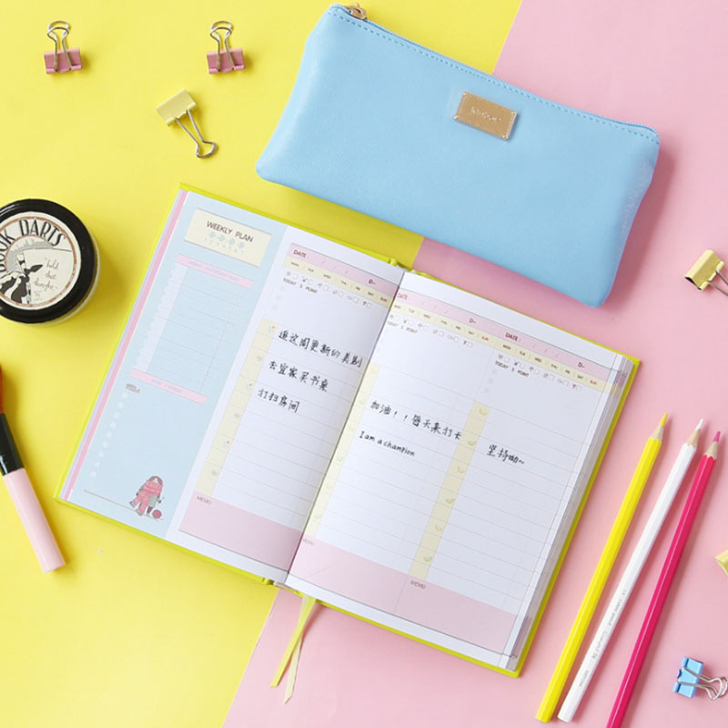 2018 Planner Notebook 365 Days Personal Diary Planner Agenda Day Planner Weekly Planner Notebook Cute School Stationery Supplie hua jie 2018 diary agenda planner