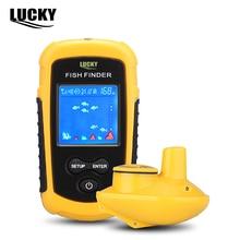 Visor LCD a Cores sorte FFW1108-1 Portátil Sonar Localizador de Peixe Sem Fio Resistente À Água 40 M/120FT Profundidade Sonar Sirene do Alarme B4 #
