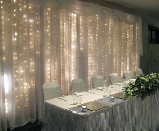 Black PVC wire 2mx2m indoor Christmas Wedding warm white led fairy ...