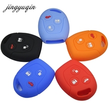 jingyuqin Silicone Car Key FOB Case Cover Set For Ford Focus Mondeo Festiva Fusion Suit Fiesta KA Remote Protector Holder