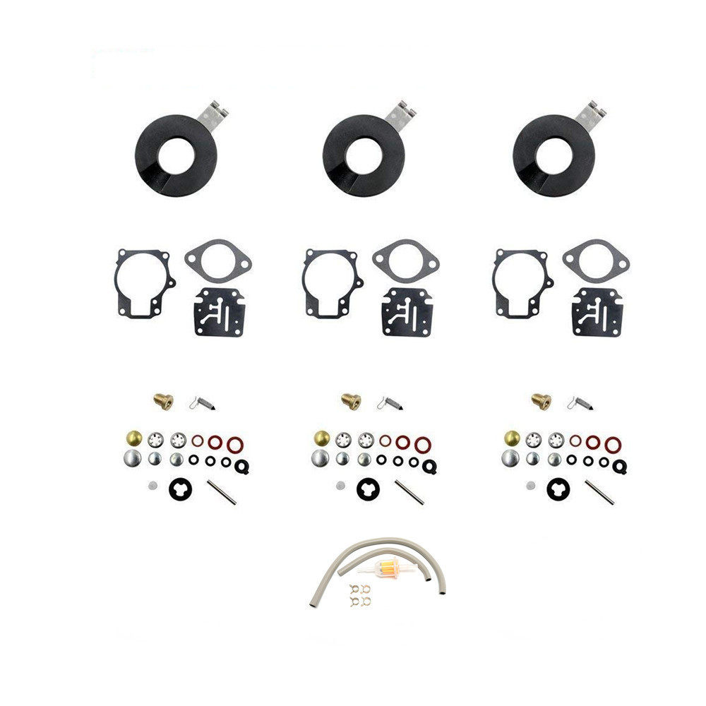 Carb Rebuild Kit for Johnson Evinrude 20 25 28 30 40 48 50 60 70 HP 396701  Gasket Diaphragm Part Fit Trimmer Chain Saw Weedeater