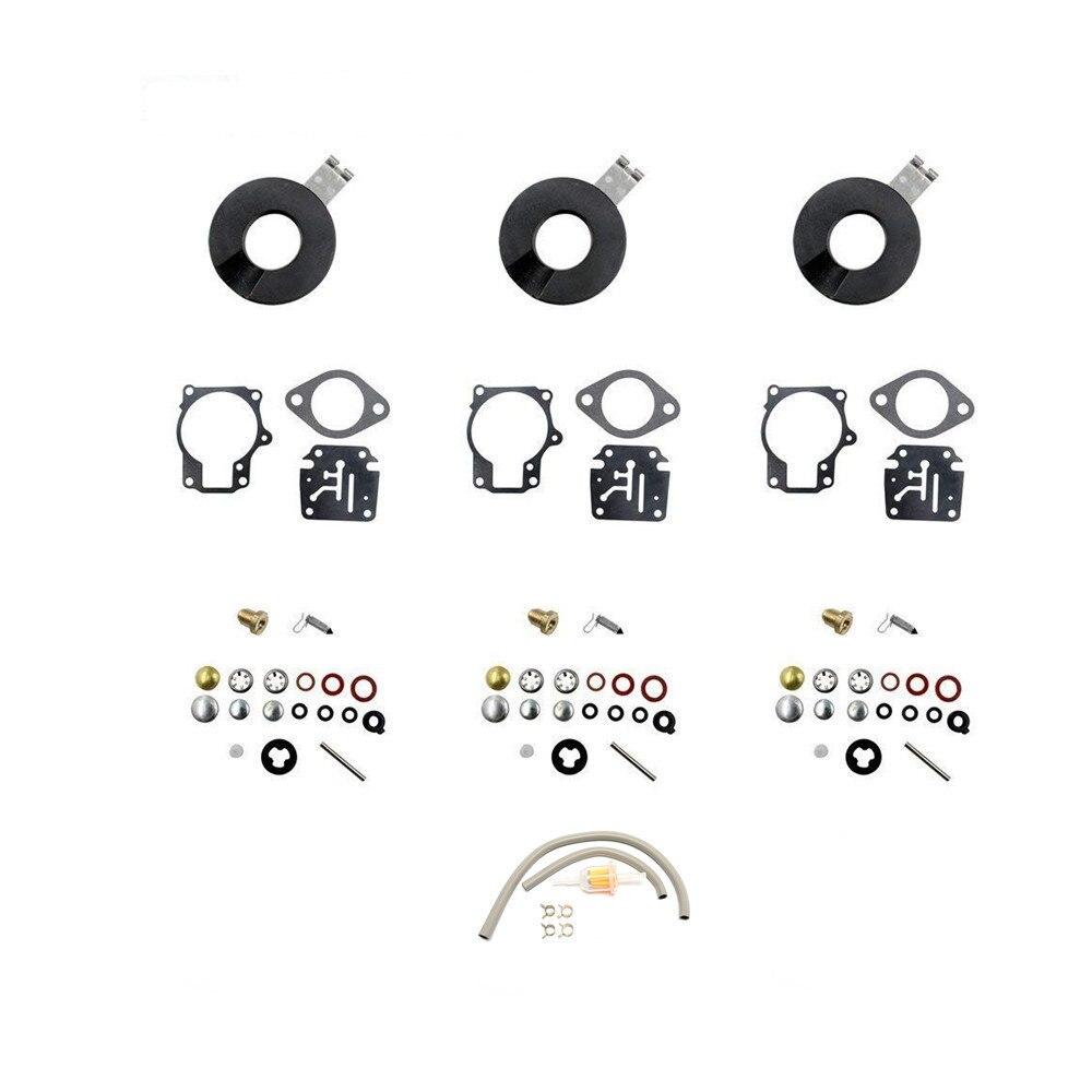 Carburateur Carb Kit de reconstruction pour Evinrude Johnson 398729 396701 392061 Mallory 9-37107 Sierra 18-7222 18 20 HP moteurs hors-bord