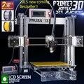 Обновлен Качество Высокоточный Reprap Prusa i3 DIY 3D Принтер комплект с 2 Рулона Нити 8 ГБ карт SD и ЖК-бесплатно