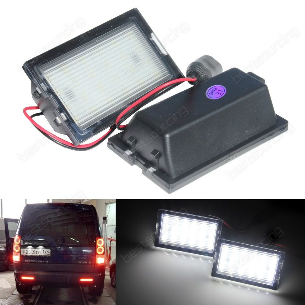 Online Shop 2x 24 Led Rear Bumper Reflector Parking Brake Running Land Rover Discovery 3 Handbrake Wiring Diagram Licence Number Plate White Light For 4